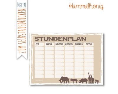 Printable Stundenplan Safari