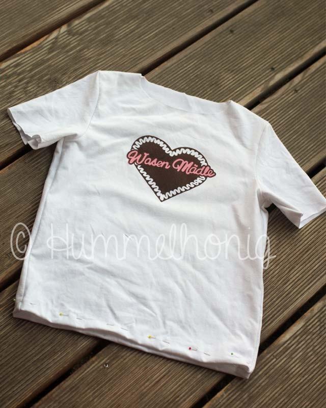 T-Shirt noch ohne Rüschenkante