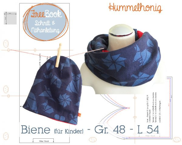 Freebook Beanie und Loop Biene