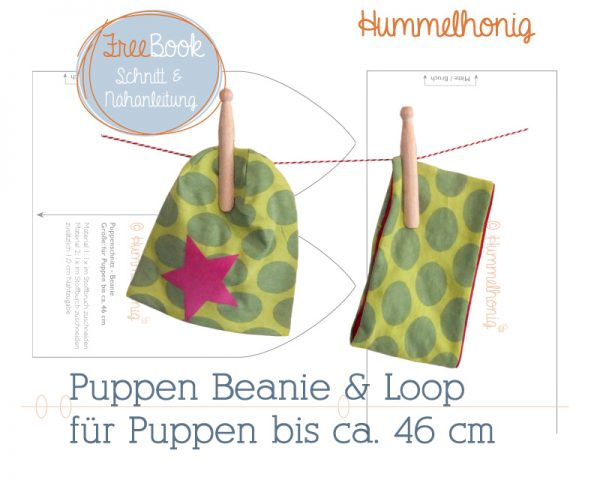 Freebook Puppen Beanie Loop