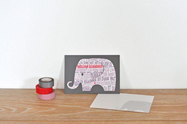 Postkarte It´s a girl