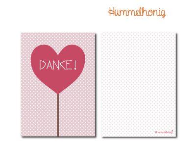 Postkarte Danke