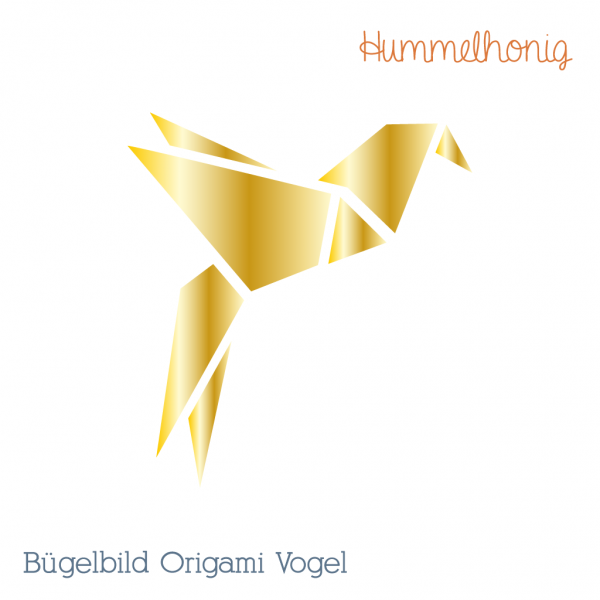 Bügelbild Origami Vogel