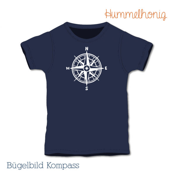 Bügelbild Kompass