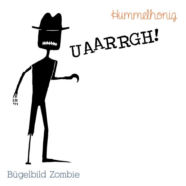 Bügelbild Zombie