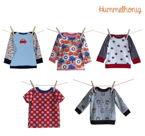 Designbeispiele Babyshirt Hummel