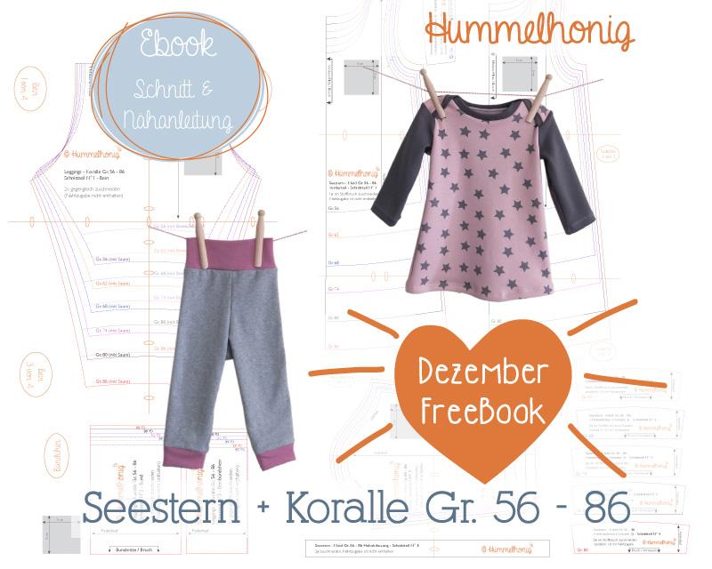 Dezember Freebook Babyleggings und Babykleid