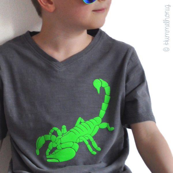 Bügelbild Skorpion