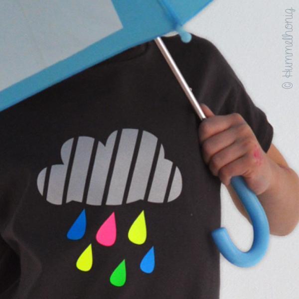 Bügelbild Regenwolke