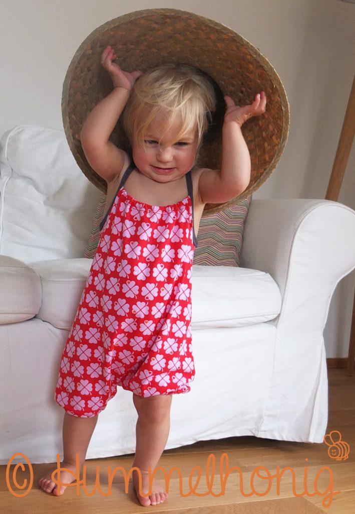 Designbeispiel Baby Jumpsuit Floh
