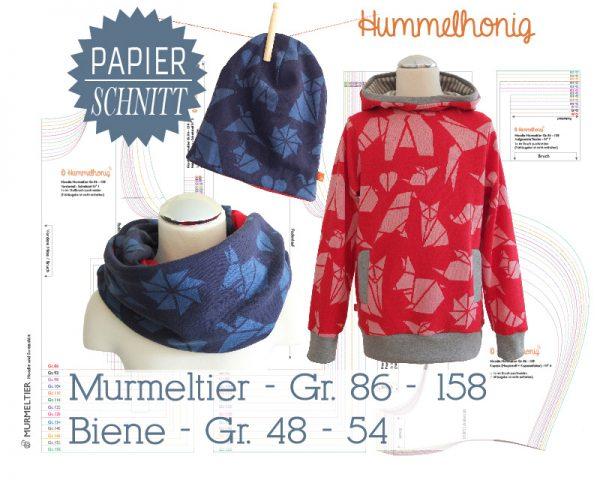 Papierschnitt Hoodie Murmeltier