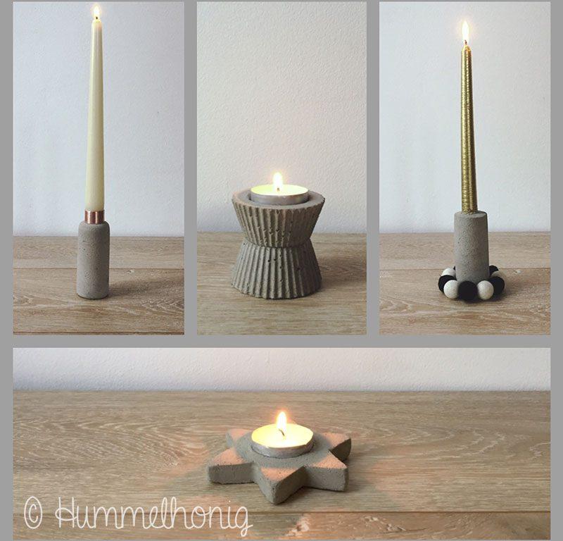 Tutorial: feierliche Tischdeko – Kerzenständer aus Beton