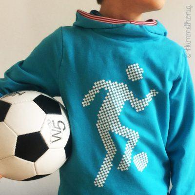 Bügelbild Fussballer