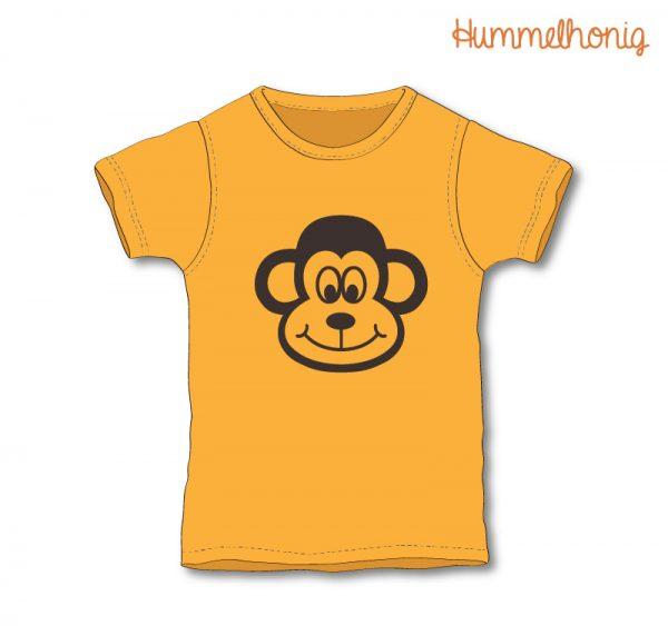 Designbeispiel Bügelbild Affe