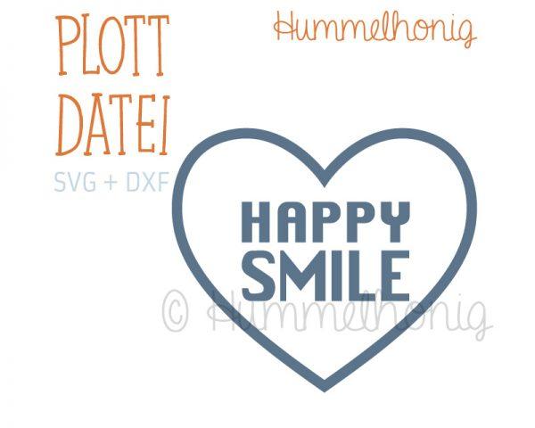 Plotterdatei Happy Smile