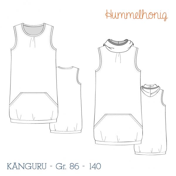 Trägerkleid Känguru Skizze