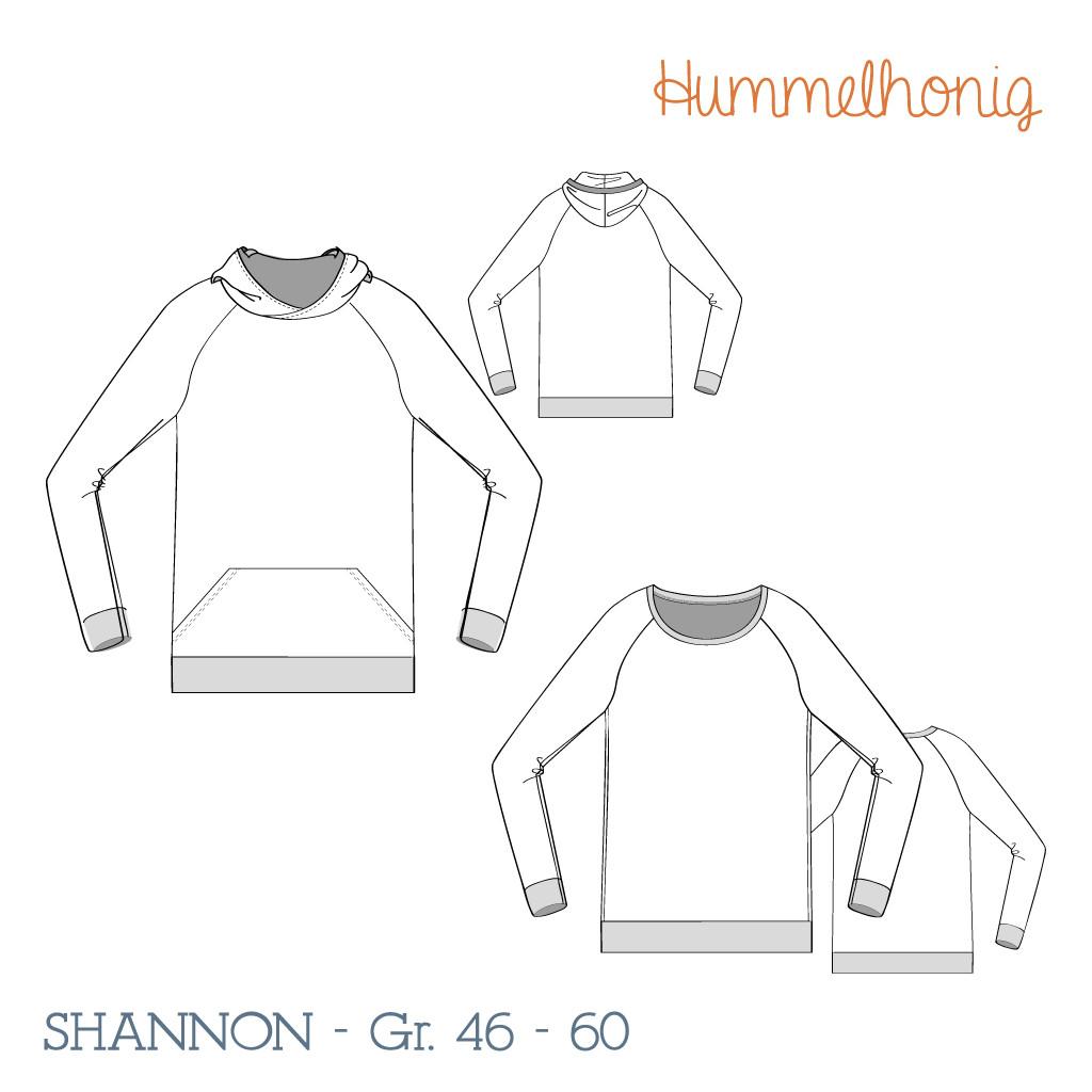 Raglansweater Shannon Skizze