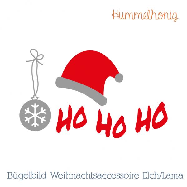 Bügelbild Weihnachtsaccessoires Elch