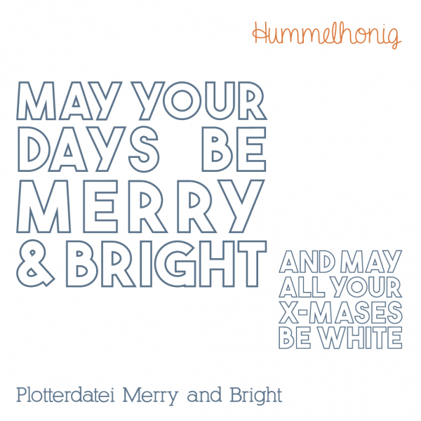 Plotterdatei Merry and Bright