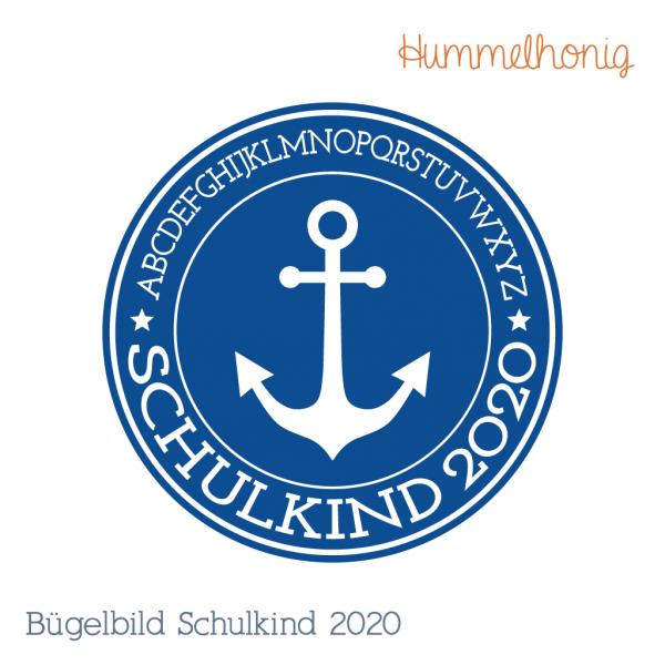 Bügelbild Schulkind Anker 2020