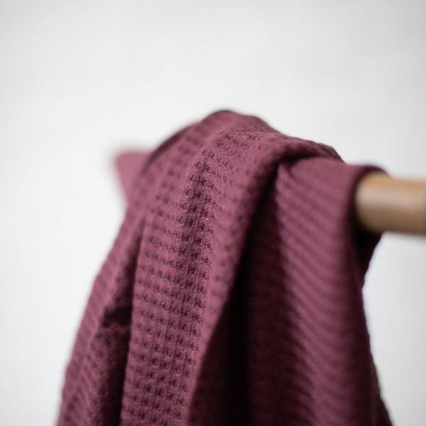 Viscose waffle knit beere