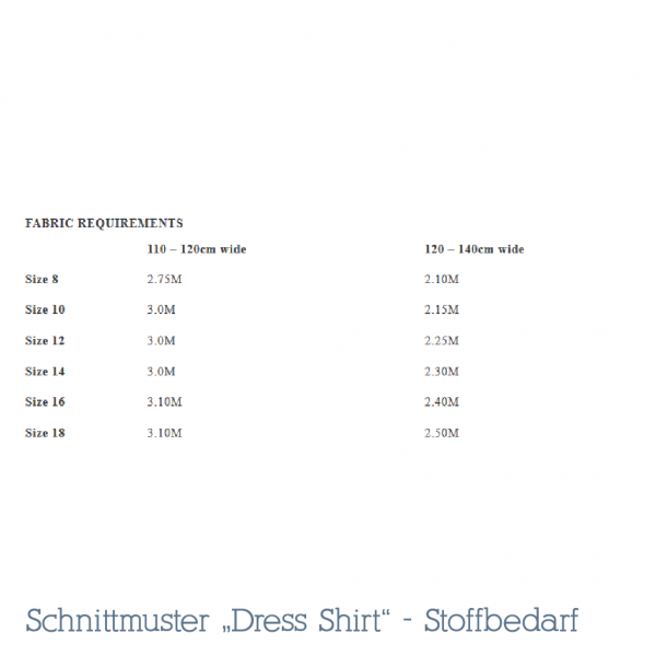 Dress Shirt Schnittmuster Kleid