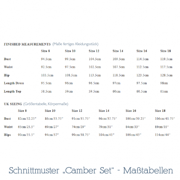 Camber Set Schnittmuster