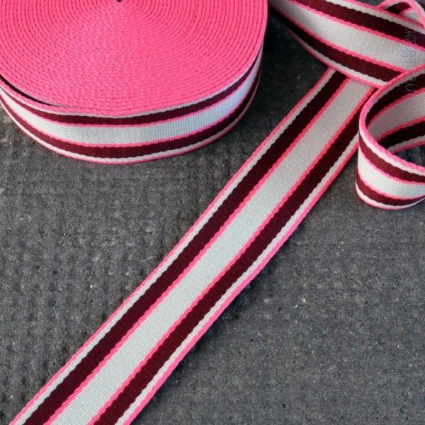 Gurtband Streifen pink