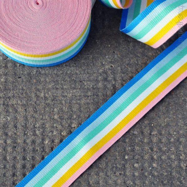 Gurtband Streifen pastell