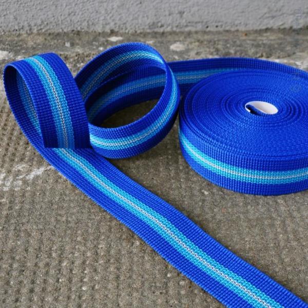 Gurtband Streifen blau