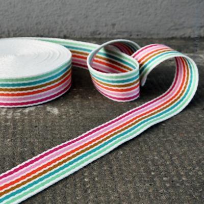 Gurtband Streifen bunt-weiß