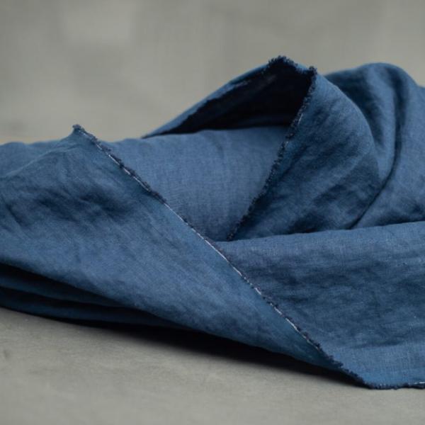 Leinen nachtblau