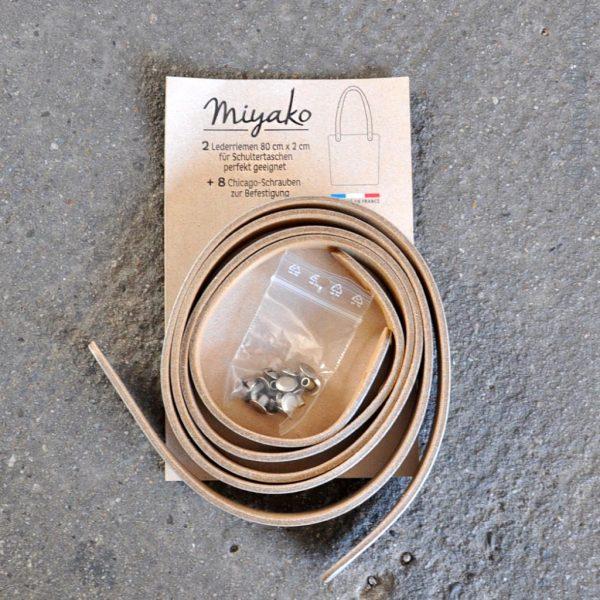 Miyako Taschengriffe Leder lang