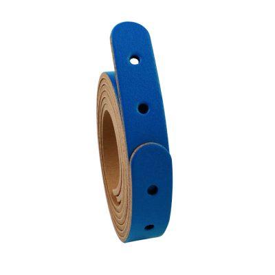 Taschengriffe Leder lang blau