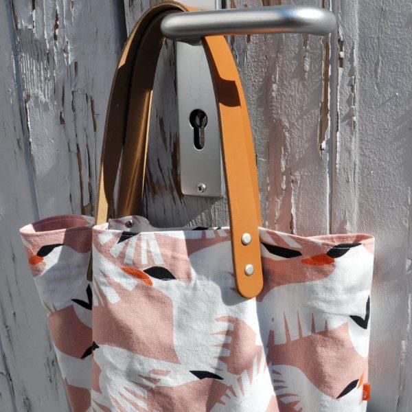 Miyako Taschengriffe Leder kurz hellbraun
