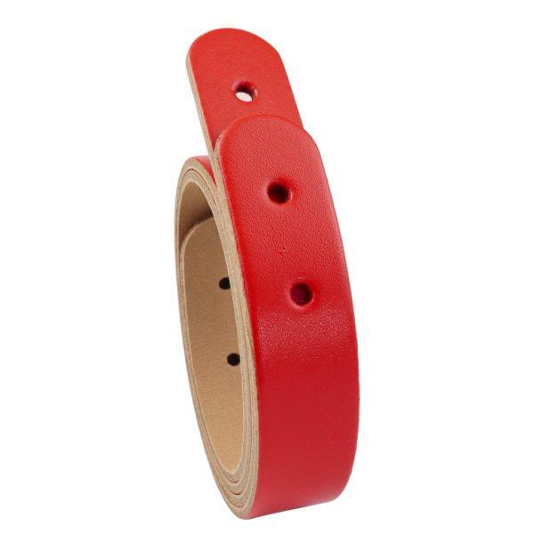 Taschengriffe Leder kurz rot