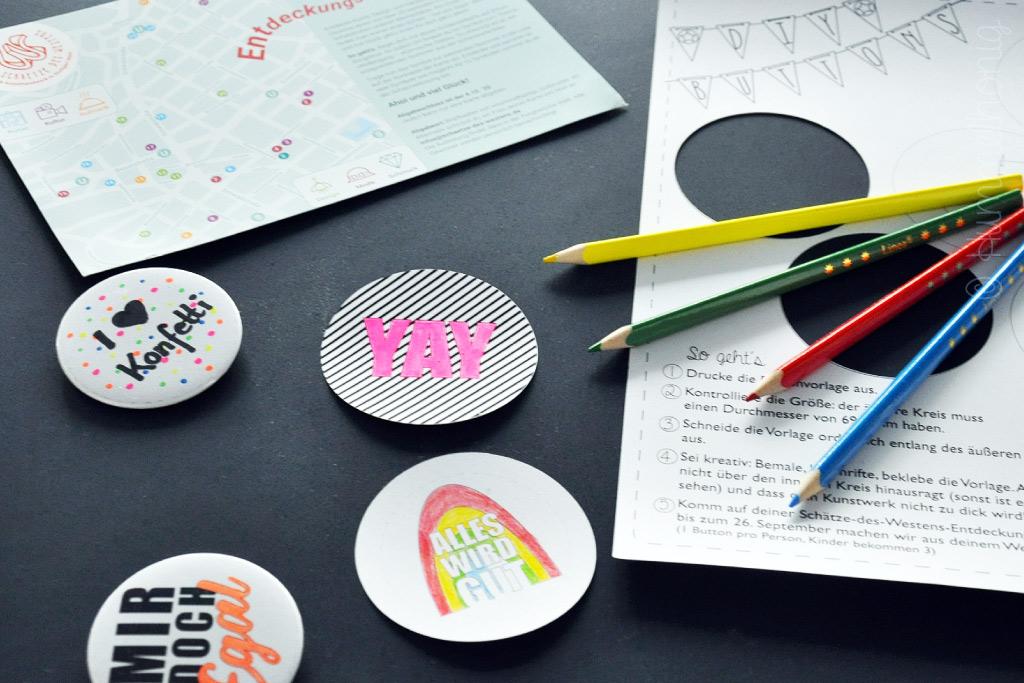 DIY Buttons zur Entdeckungsreise