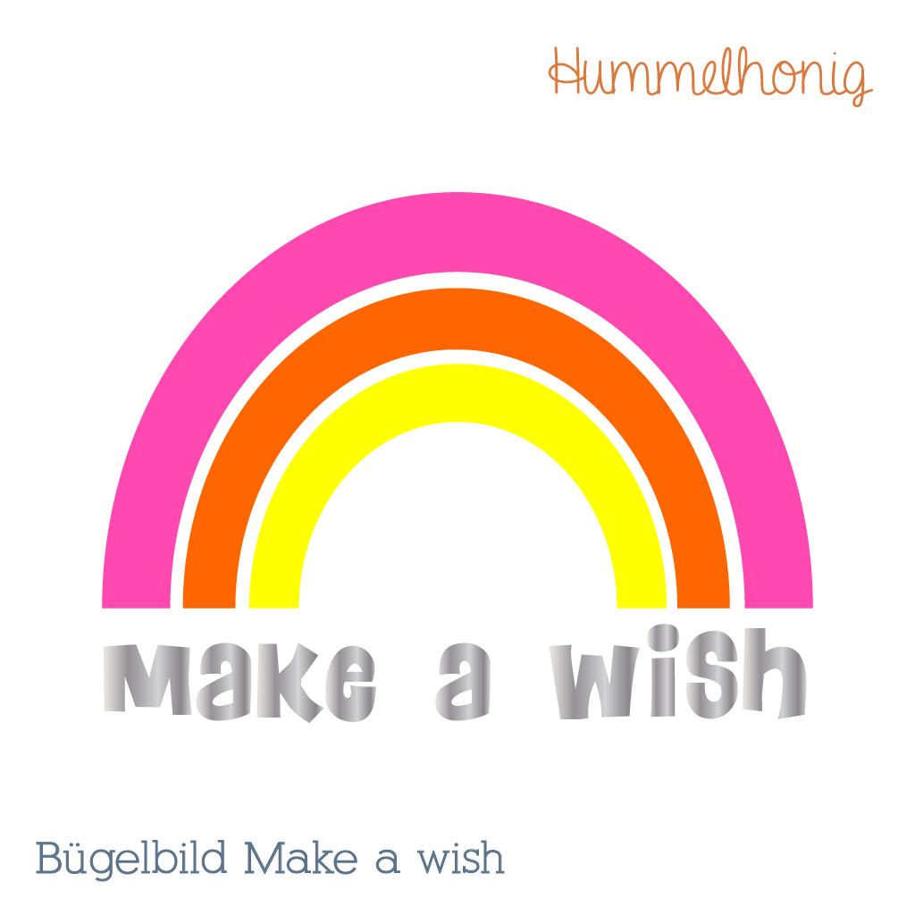 Make a wish – Bügelbild, Freebook Turnbeutel und Nähpaket